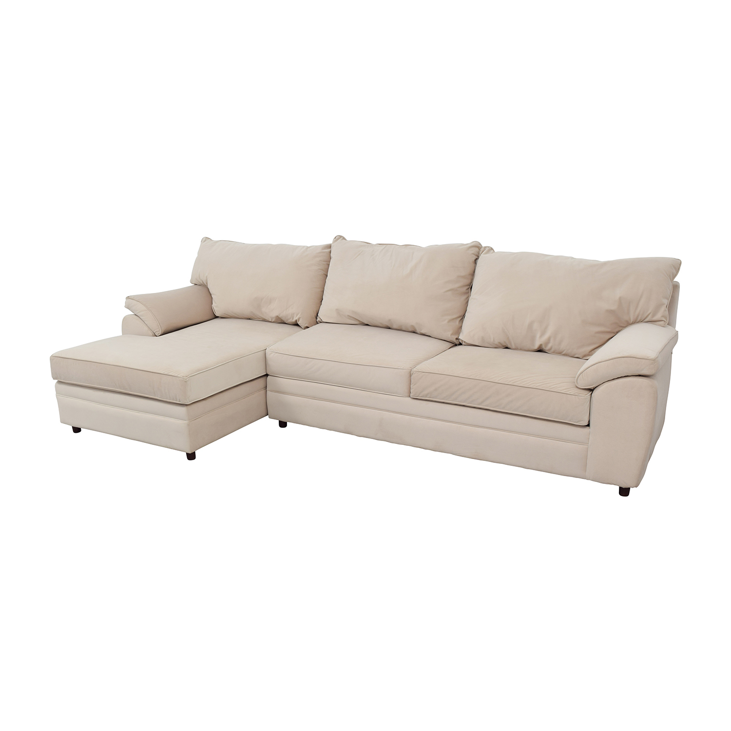 Bobs Furniture Bob Furniture Off-White Right Chaise Sectional second hand