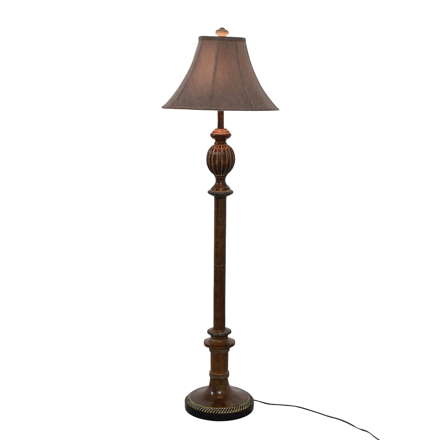 Gold and Brown Standing Lamp on sale