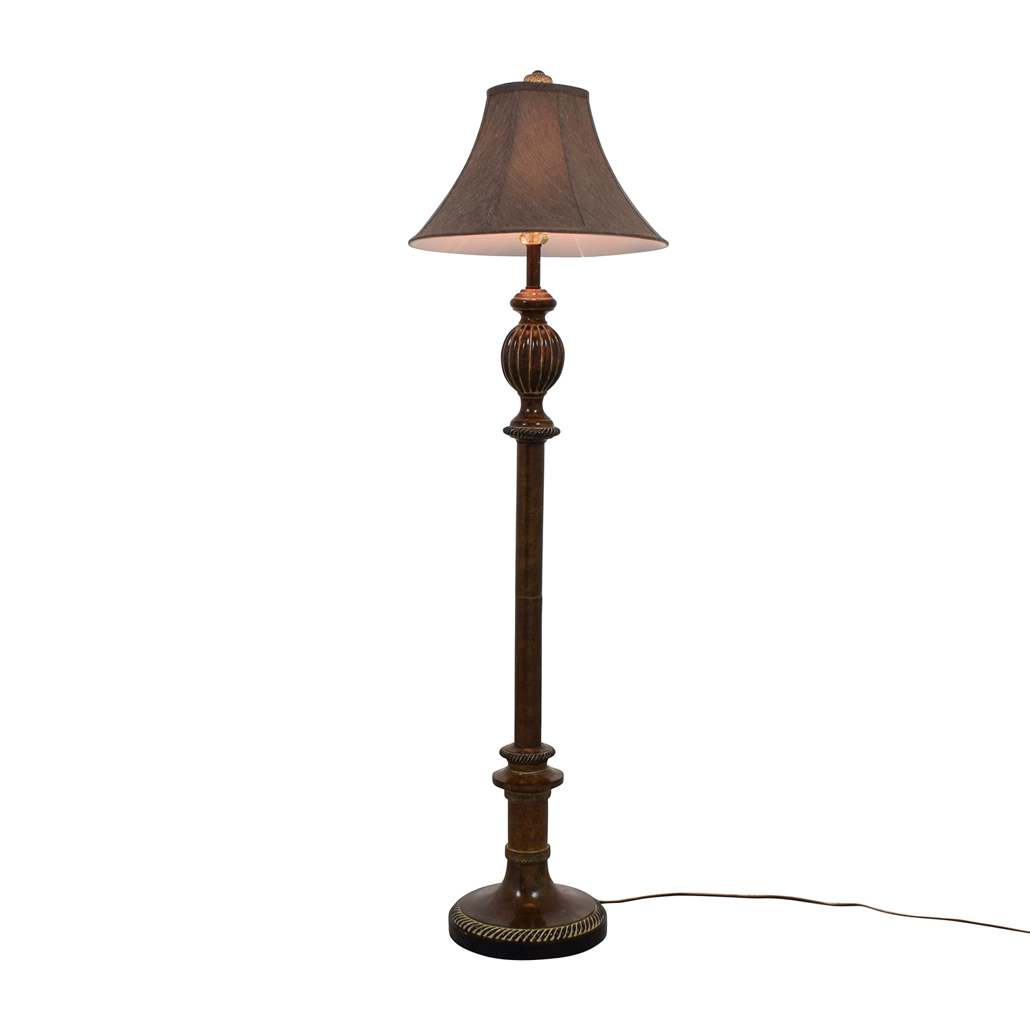 Gold and Brown Standing Lamp sale