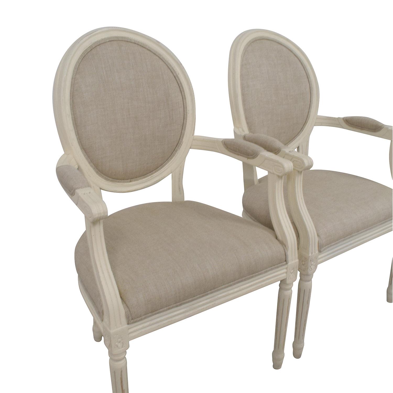 Restoration Hardware Beige French Chairs Restoration Hardware