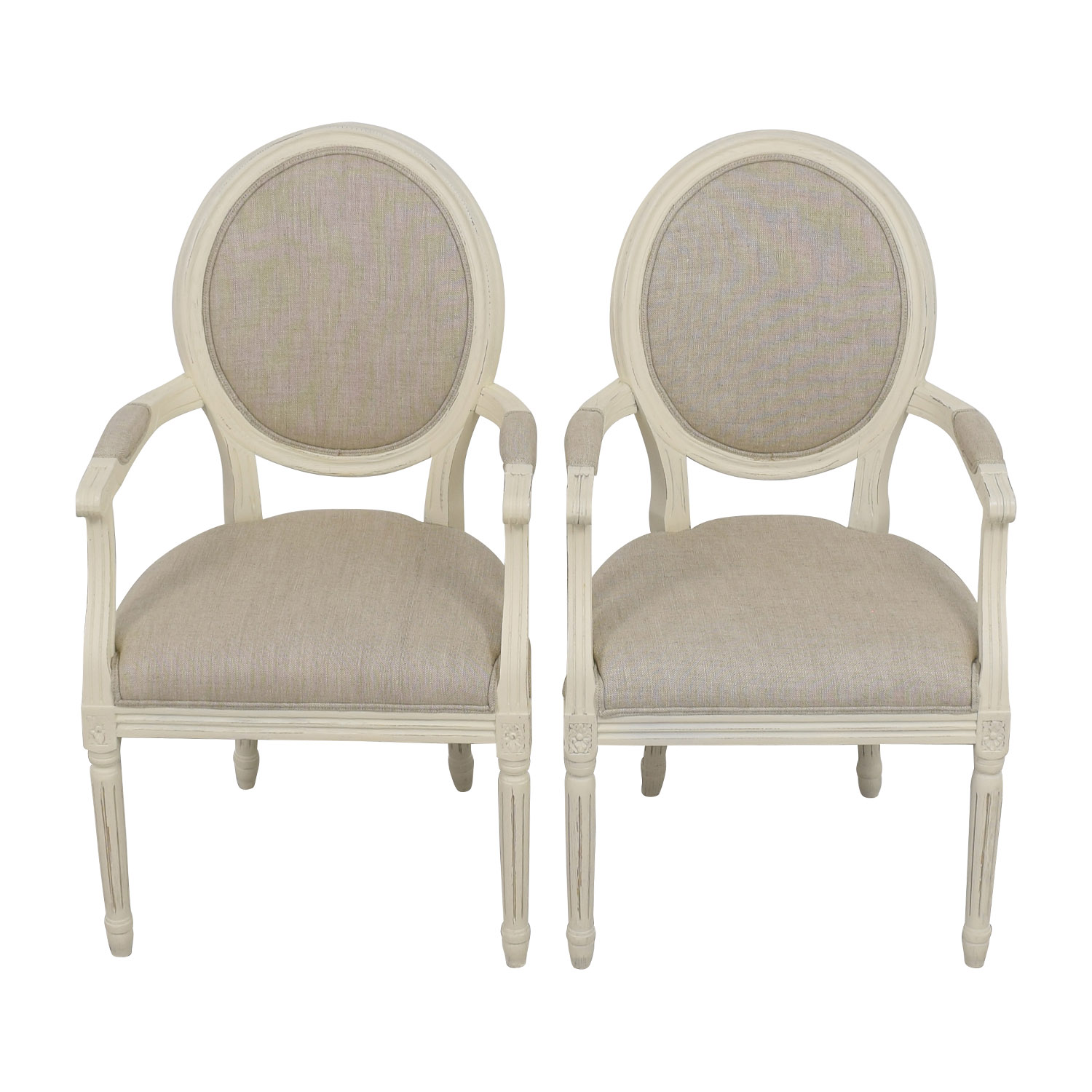 Restoration Hardware Restoration Hardware Beige French Chairs Chairs