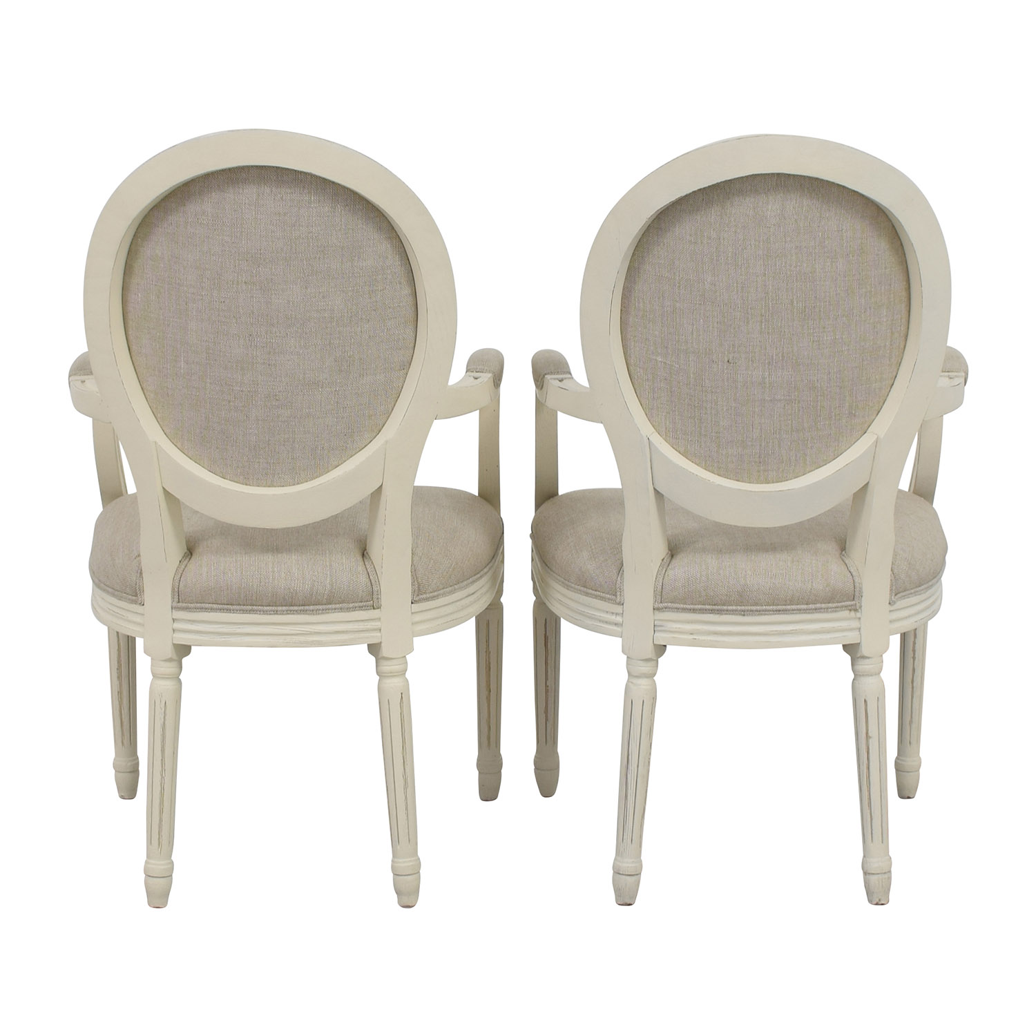 Restoration Hardware Restoration Hardware Beige French Chairs