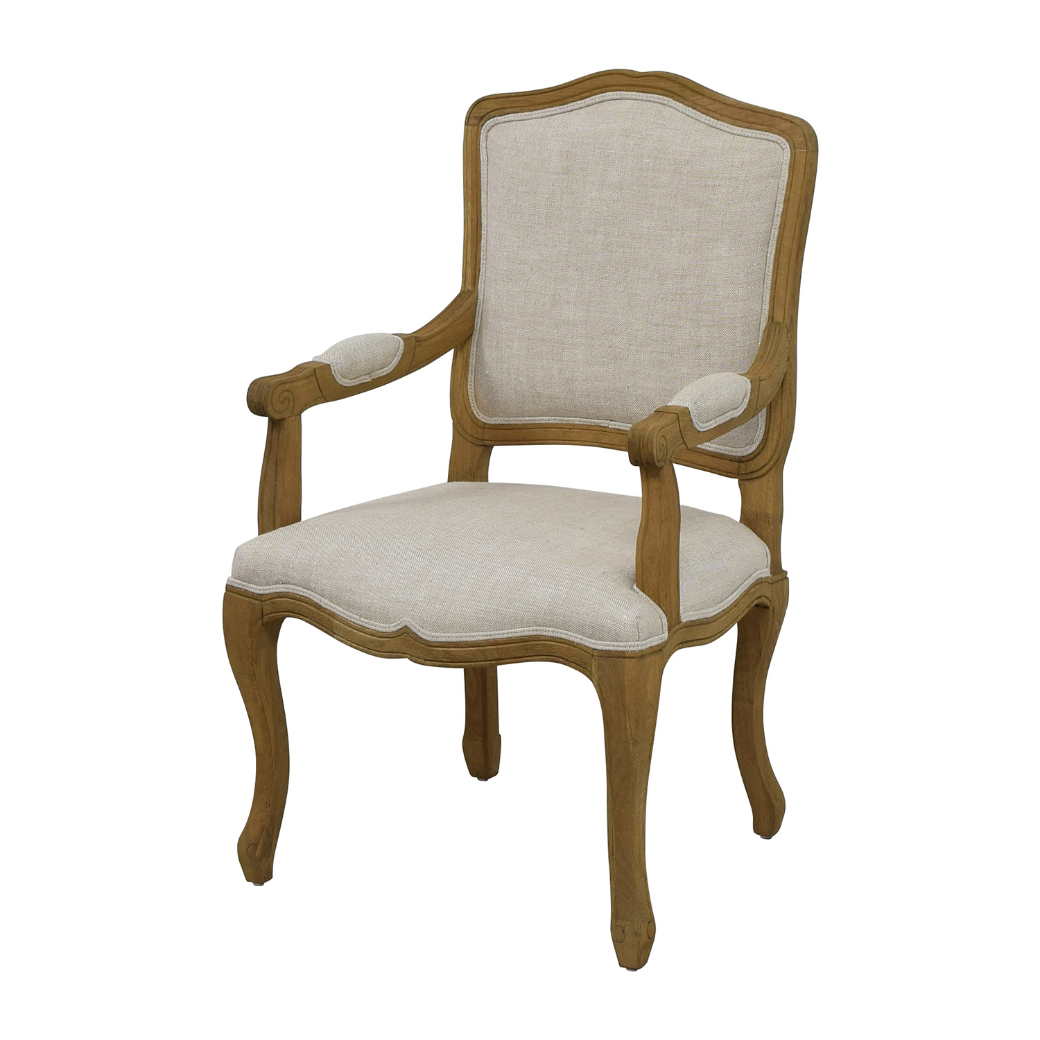 buy Restoration Hardware Restoration Hardware Vintage French Camelback Fabric Armchair online