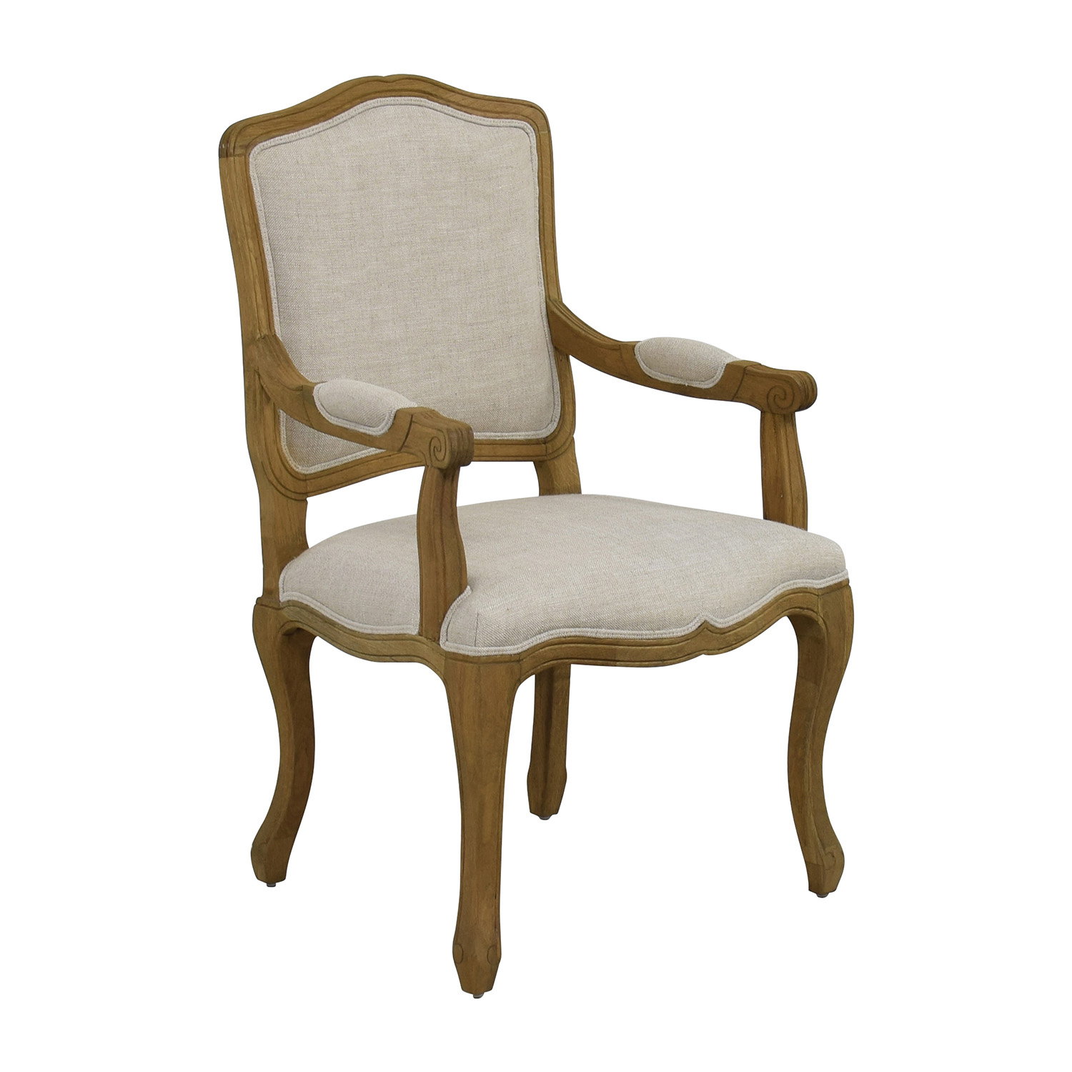 Restoration Hardware Restoration Hardware Vintage French Camelback Fabric Armchair Chairs