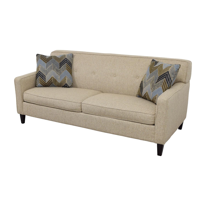 63 off raymour flanigan raymour flanigan tan maddox for Classic sofa