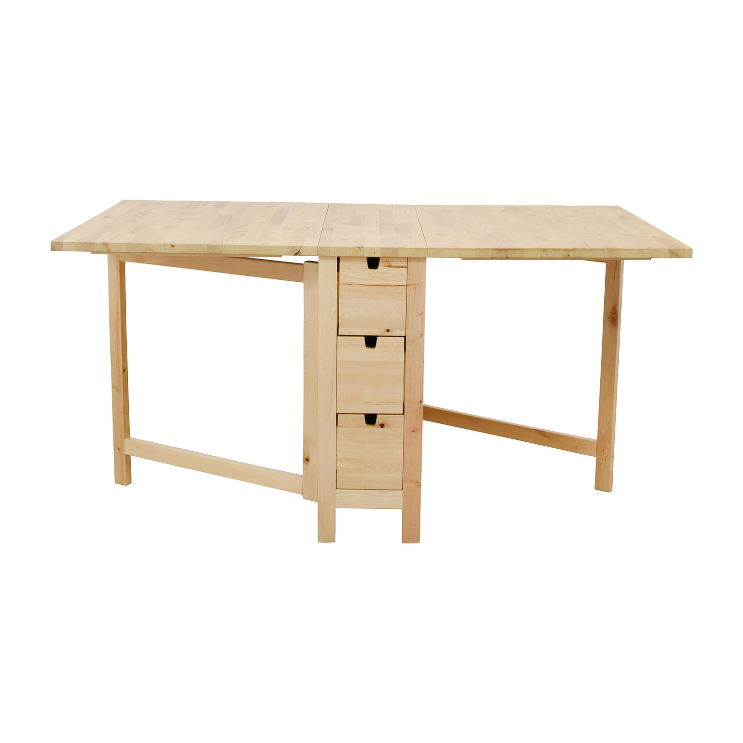 Beau 49% OFF   IKEA IKEA Birch Norden Gateleg Drop Leaf Table With Drawers /  Tables