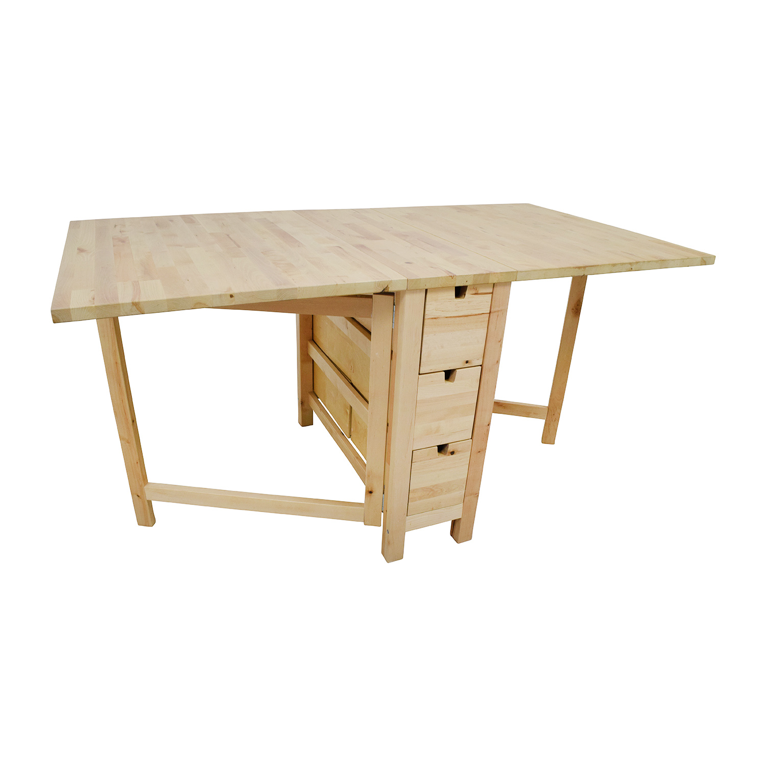 49 off ikea ikea birch norden gateleg drop leaf table with drawers tables - Table ikea norden ...