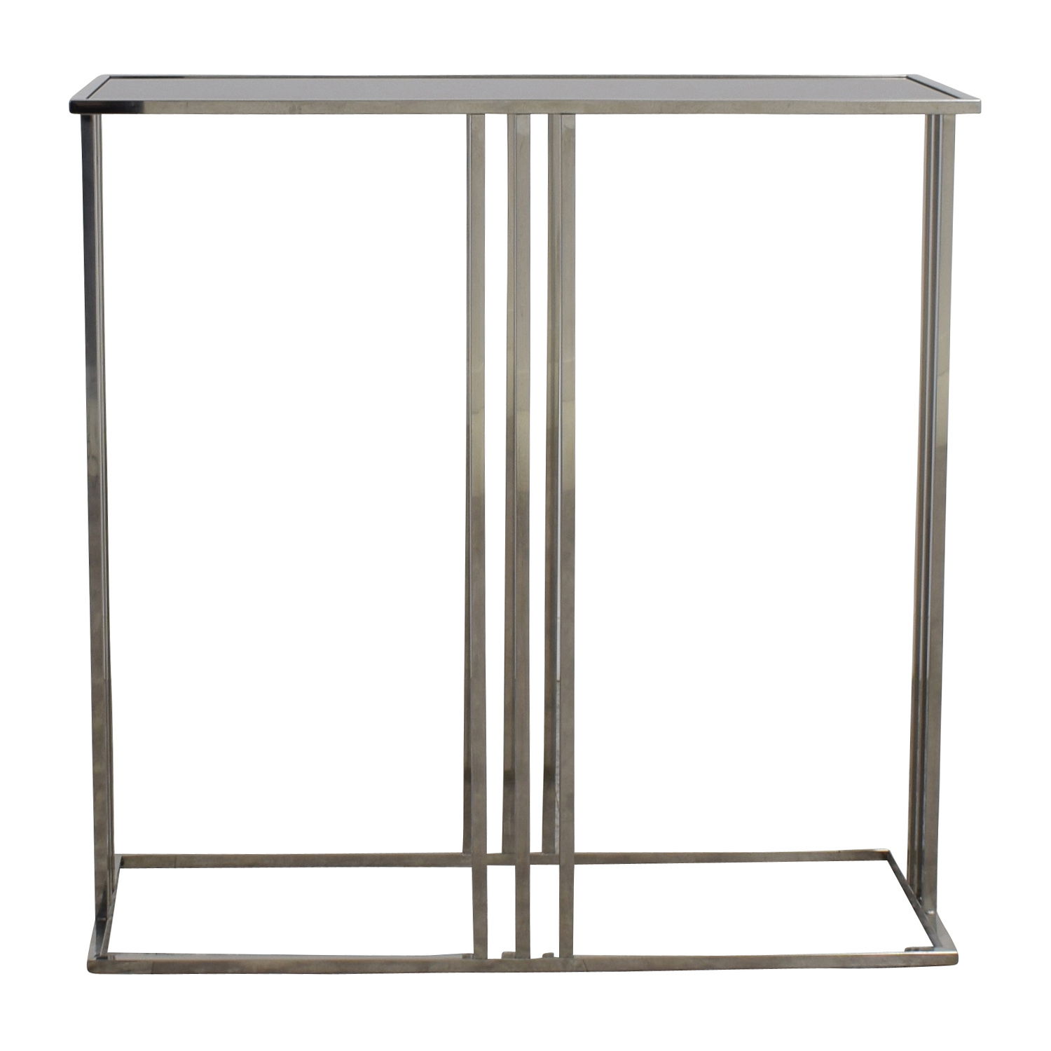Marshalls Homegoods Black and Silver Console Entryway Table Marshalls Homegoods