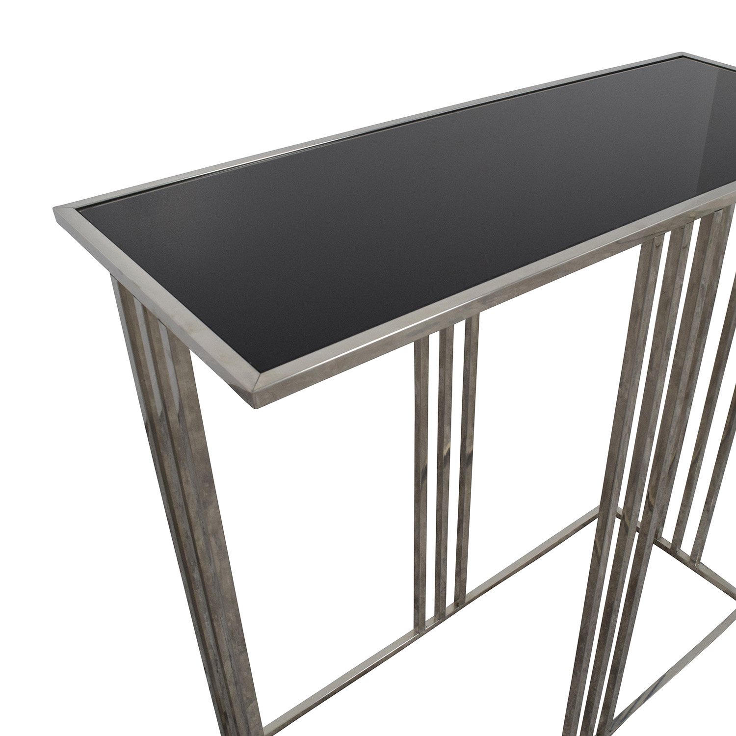 73 Off Marshalls Homegoods Marshalls Homegoods Black And Silver Console Entryway Table Tables