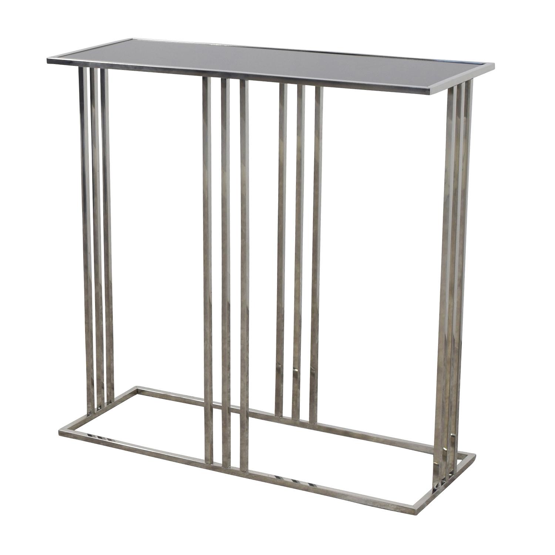 shop Marshalls Homegoods Black and Silver Console Entryway Table Marshalls Homegoods Tables