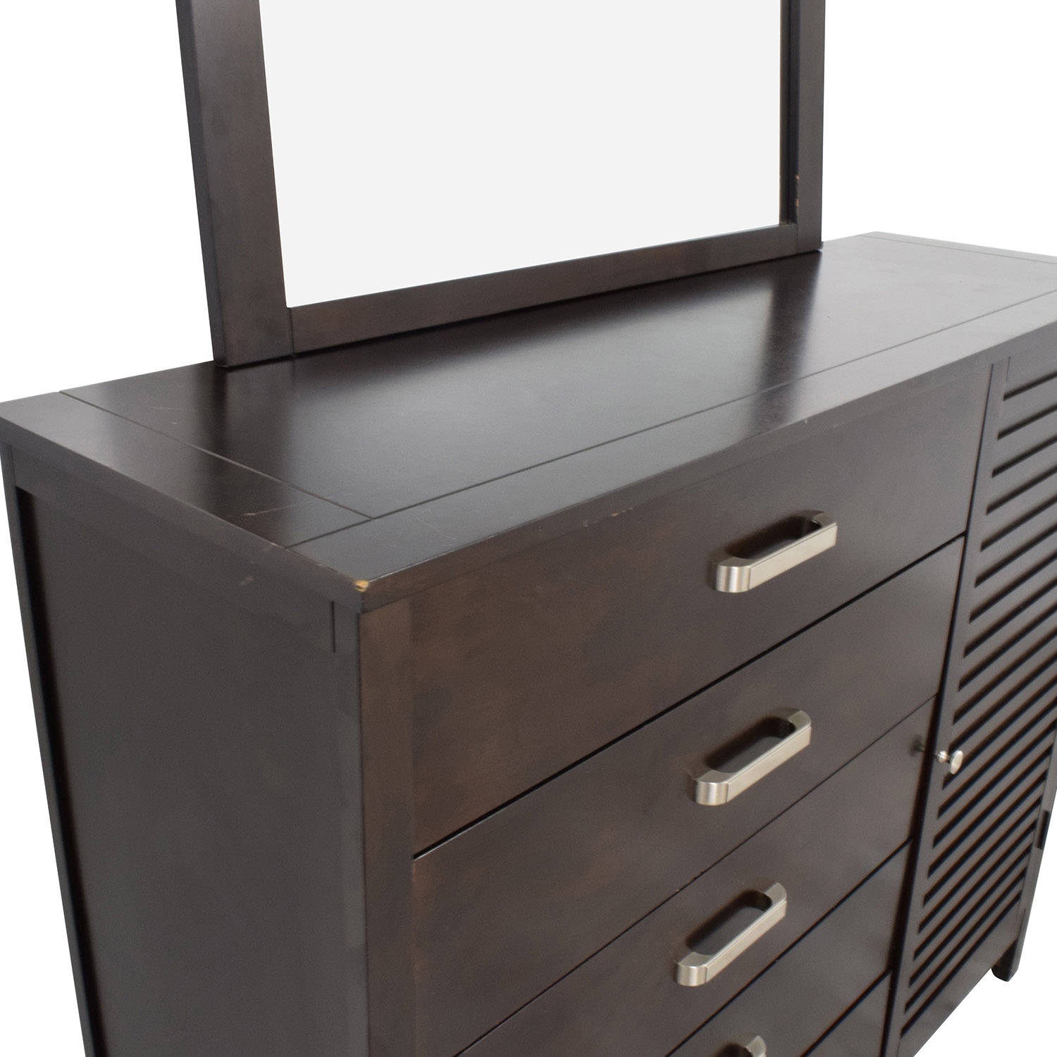 Rooms To Go Rooms to Go Espresso Grove Five-Drawer Dresser with Mirror dimensions