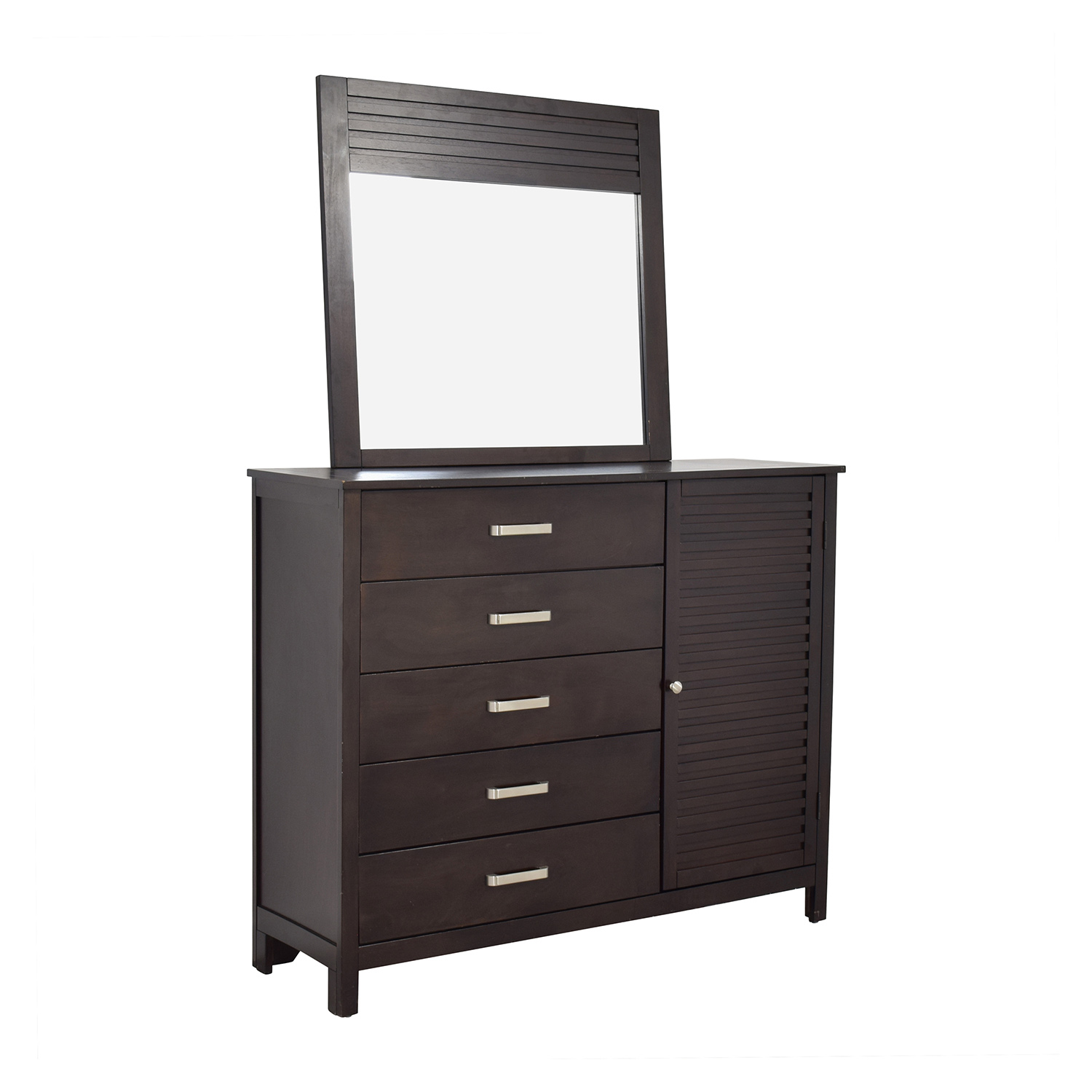 Rooms to Go Espresso Grove Five-Drawer Dresser with Mirror / Dressers