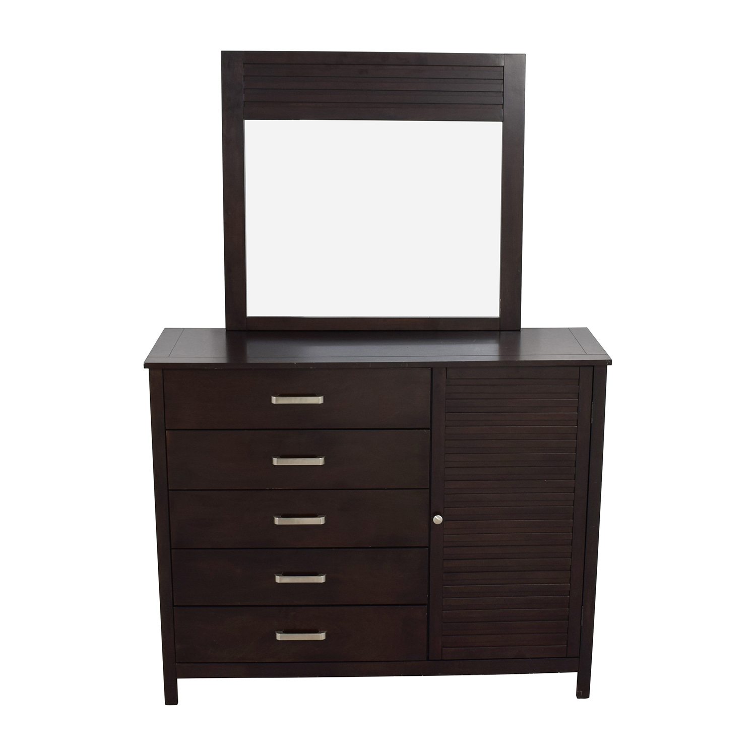 buy Rooms To Go Rooms to Go Espresso Grove Five-Drawer Dresser with Mirror online
