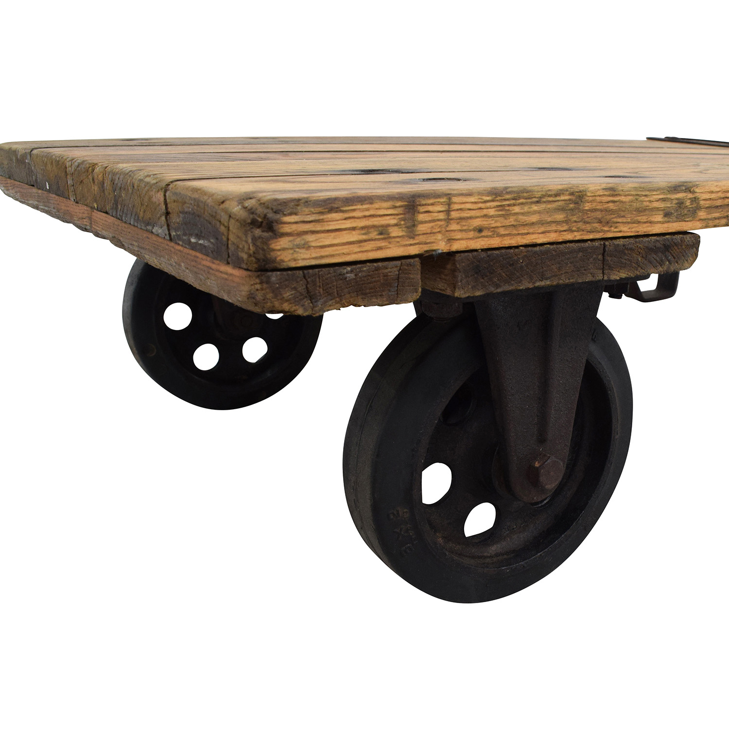Thomas Truck & Caster Co Thomas Truck & Caster Co Restored Industrial Coffee Table nj