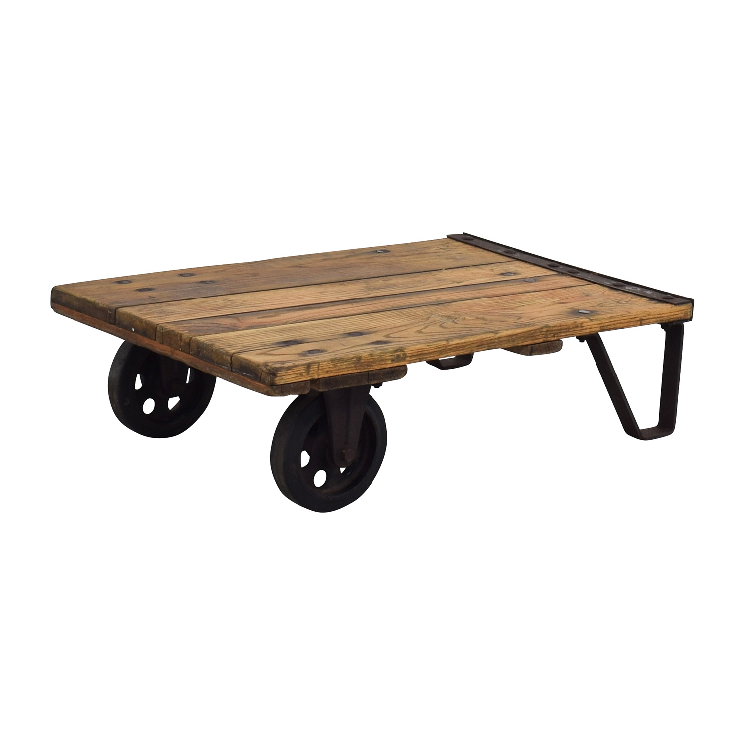 Thomas Truck & Caster Co Restored Industrial Coffee Table sale
