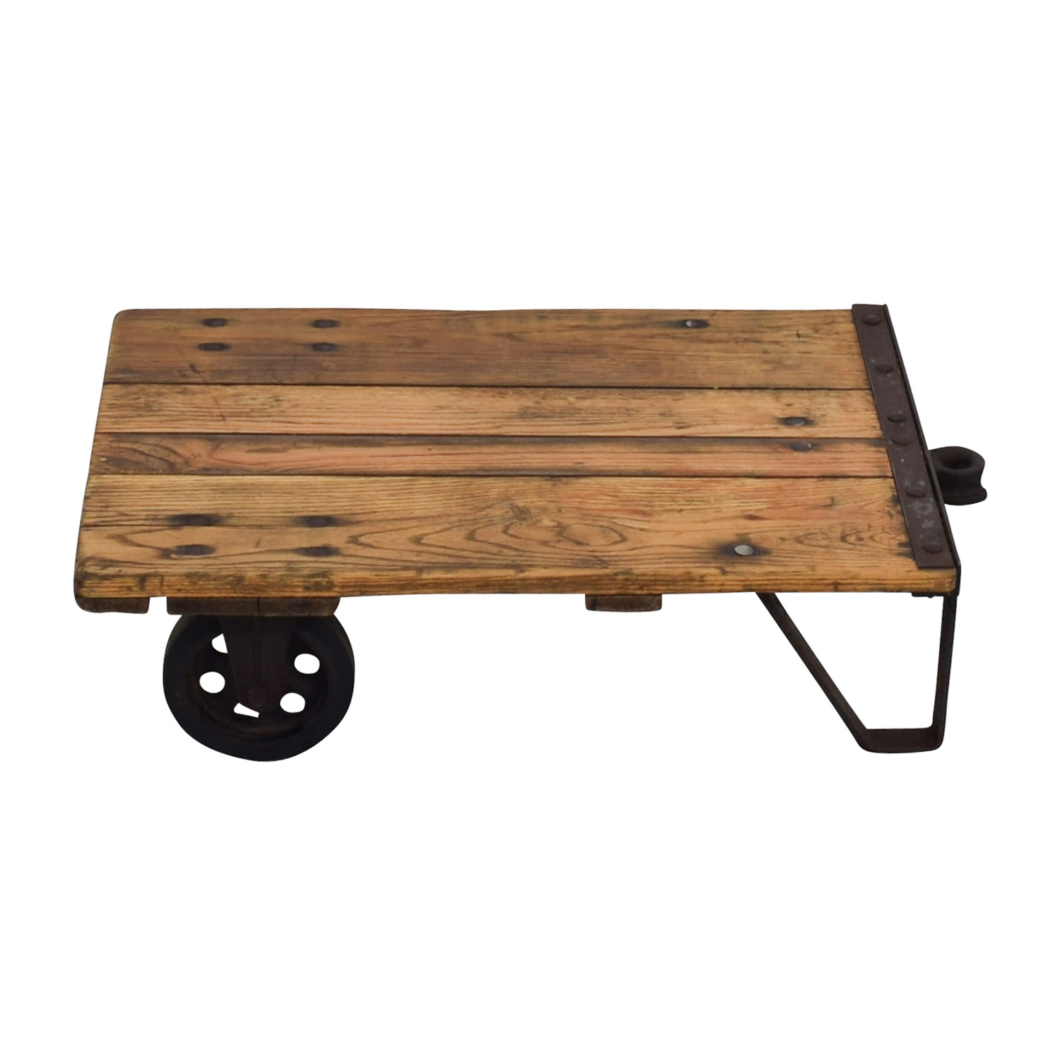 Thomas Truck & Caster Co Thomas Truck & Caster Co Restored Industrial Coffee Table on sale