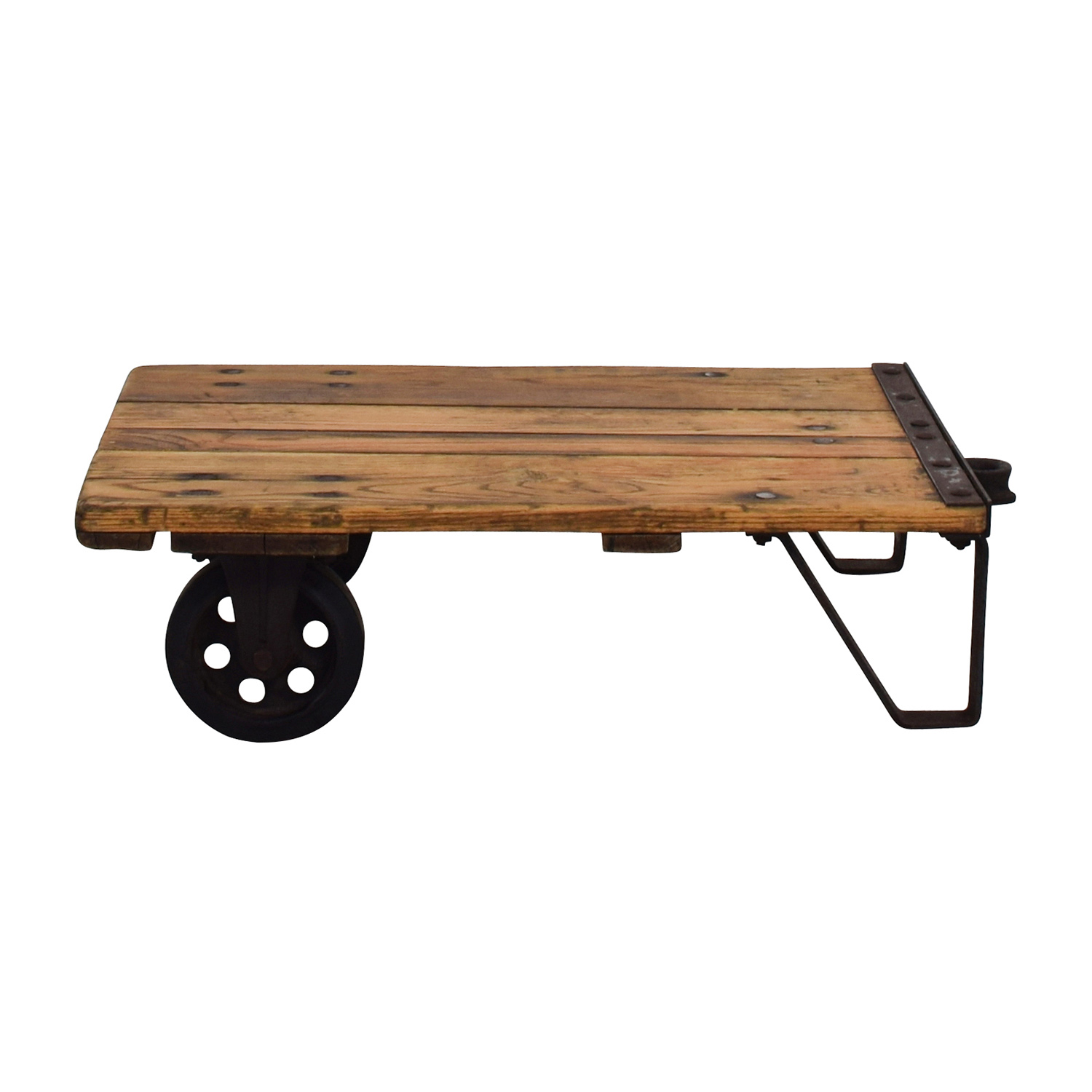 shop Thomas Truck & Caster Co Restored Industrial Coffee Table Thomas Truck & Caster Co
