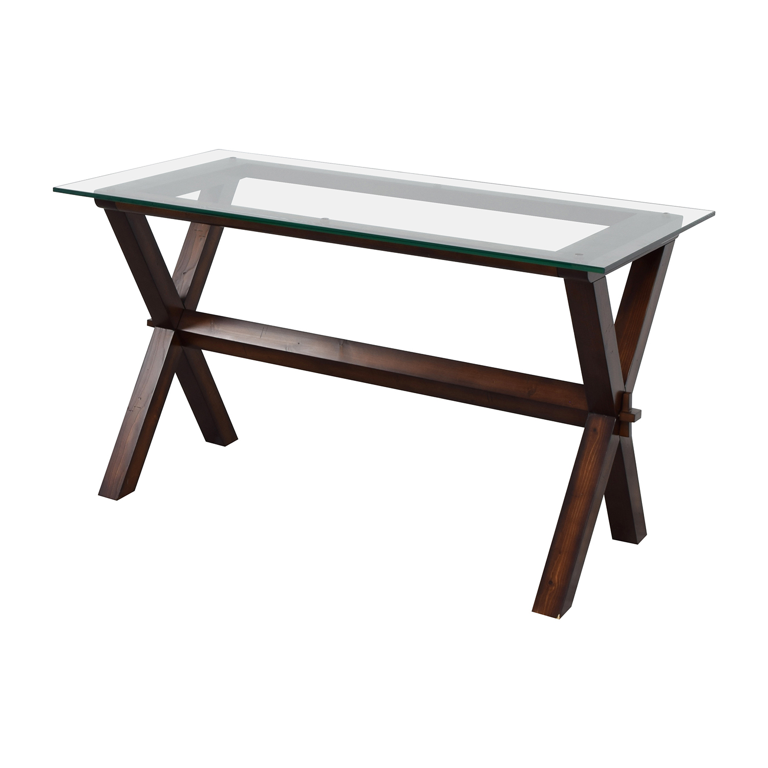 Buy Pottery Barn Ava Rectangular Glass And Wood Desk Tables