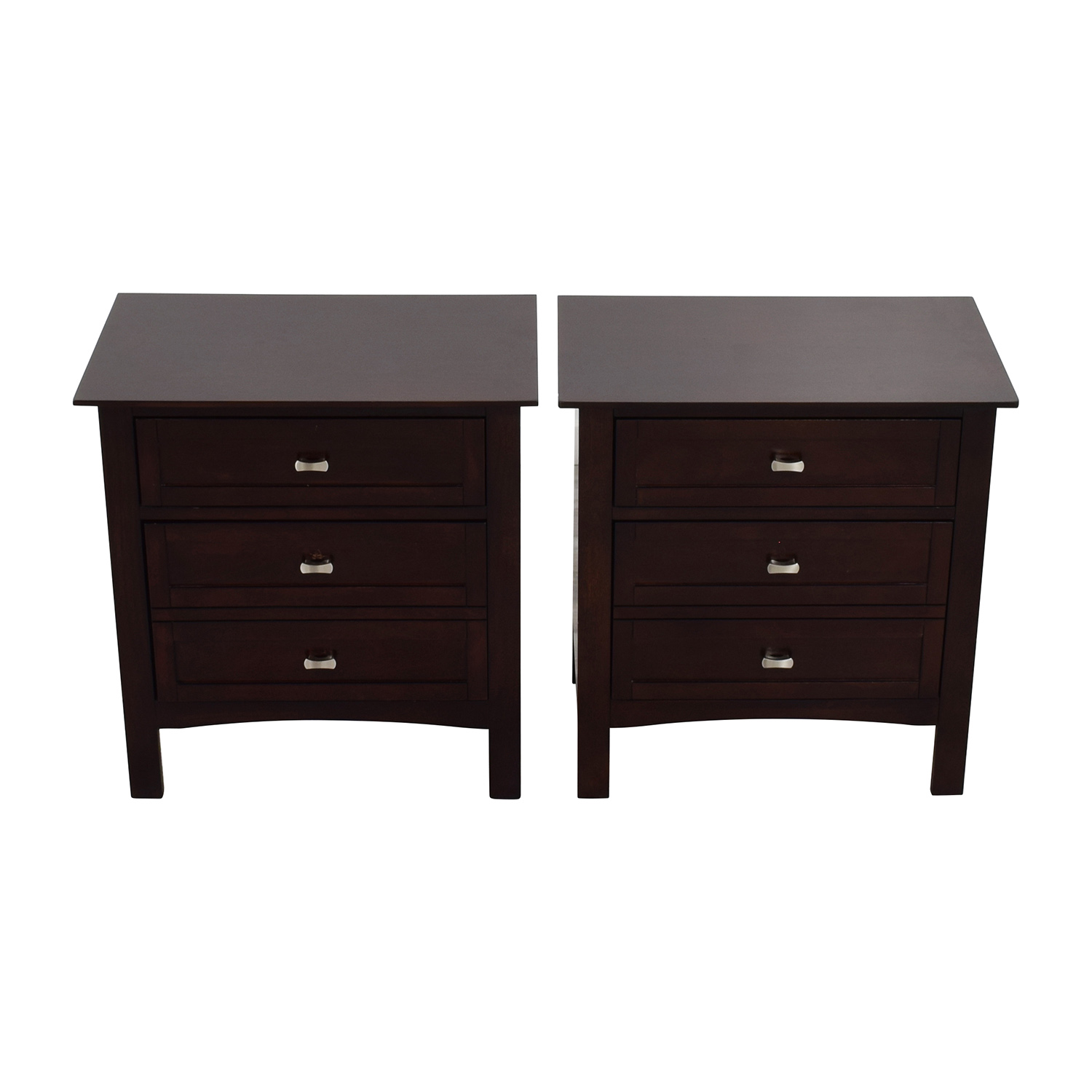 shop Bobs Furniture Bobs Furniture Brown Wood Night Stands online