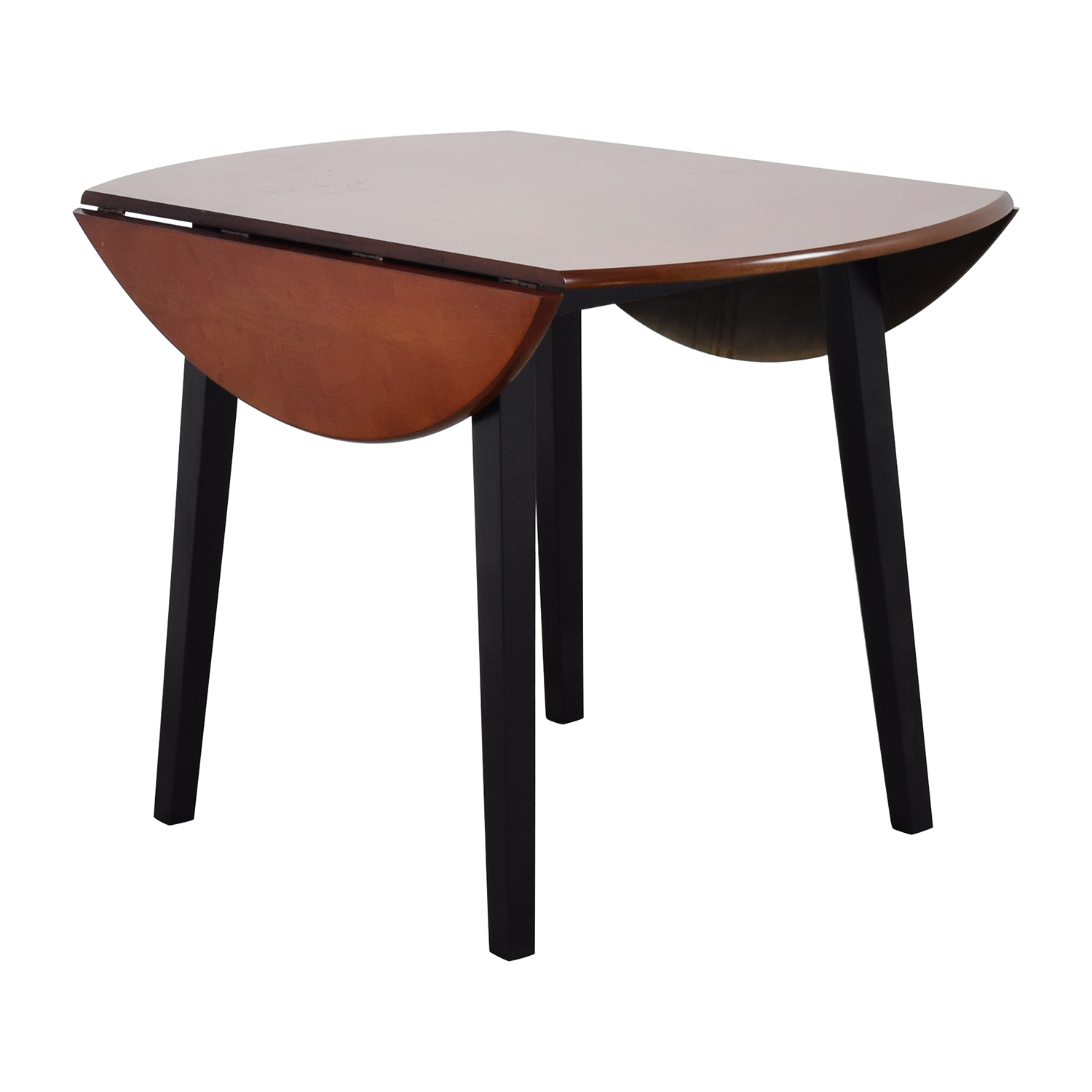 90 off bob 39 s furniture bob 39 s furniture brown wood round for Small round wood kitchen table