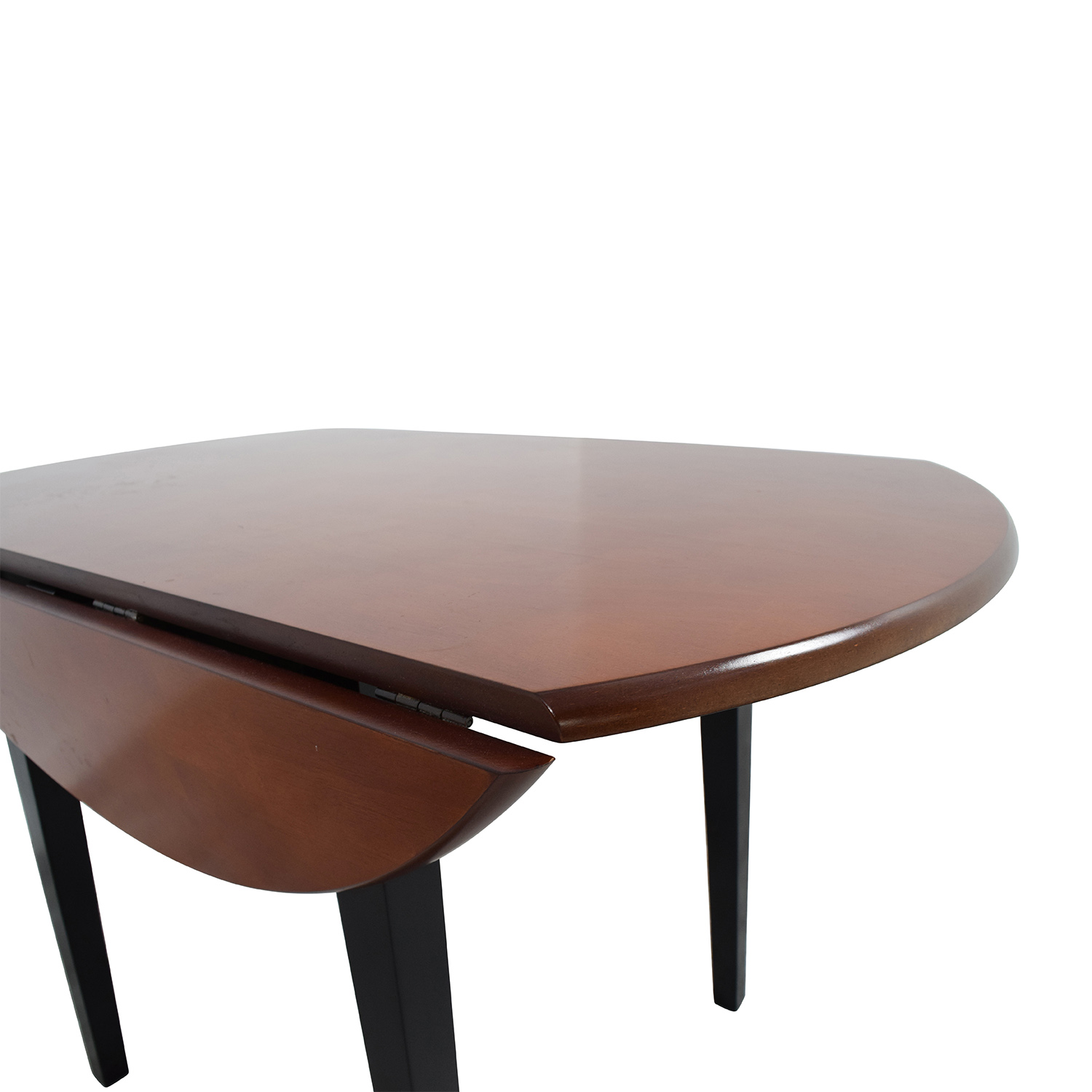 90 Off Bob 39 S Furniture Bob 39 S Furniture Brown Wood Round Kitchen Table Tables