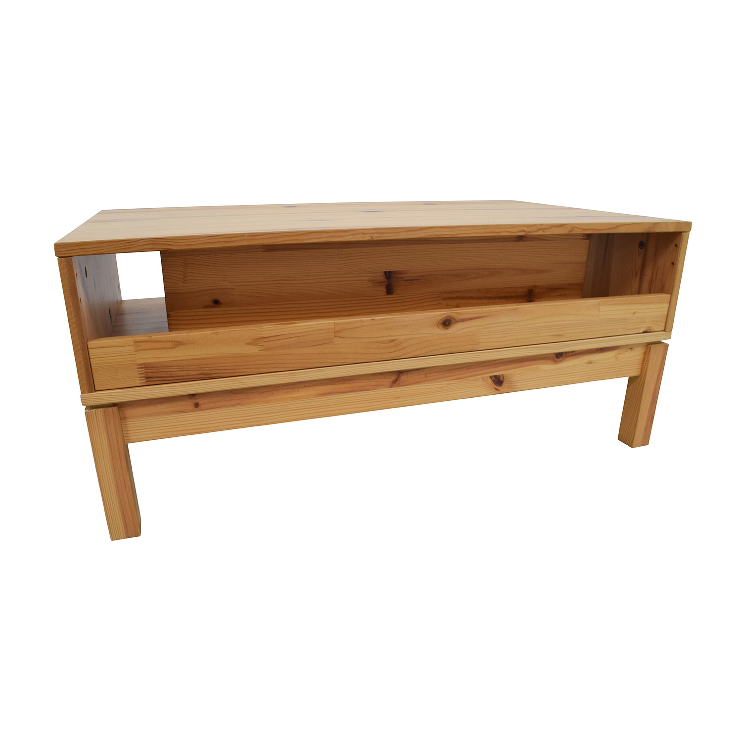 71 off ikea ikea husar pine wood tv table storage - Ikea table tv ...