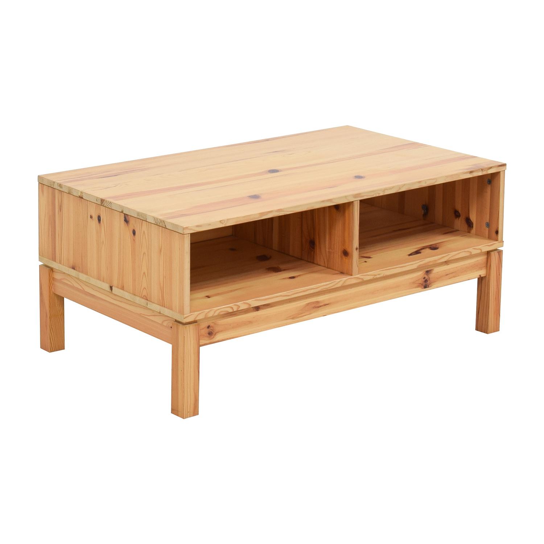 71 Off Ikea Ikea Husar Pine Wood Tv Table Storage