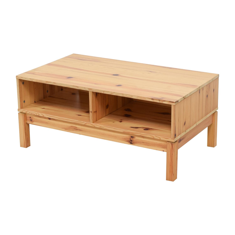 71 off ikea ikea husar pine wood tv table storage - Ikea ikea ikea ...