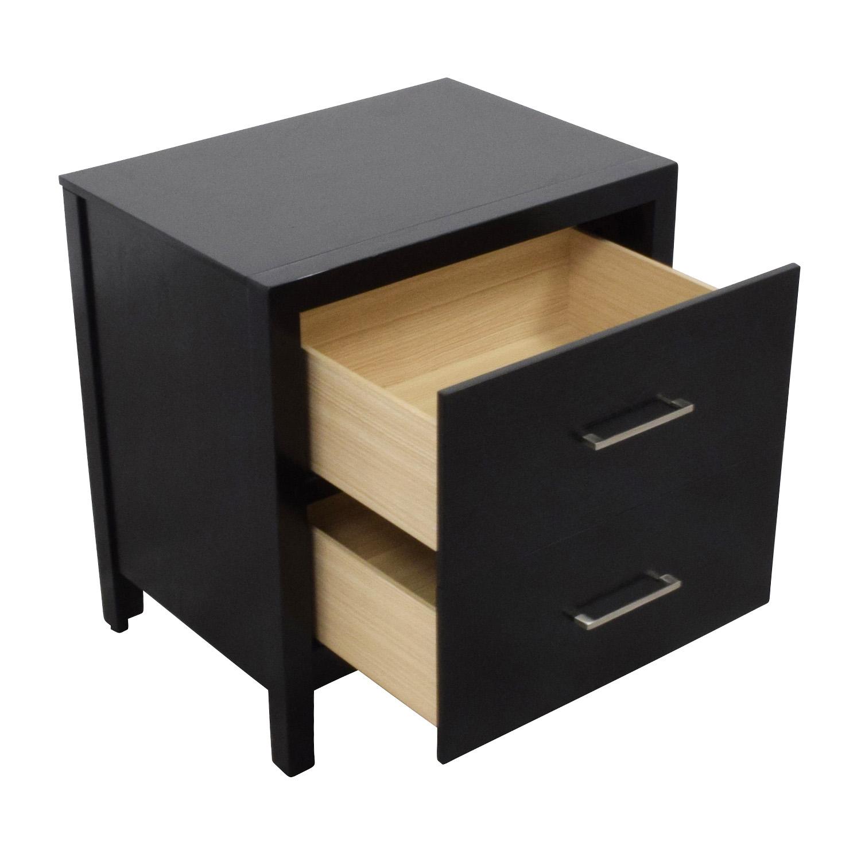 buy Black Two-Drawer Nightstand Overstock