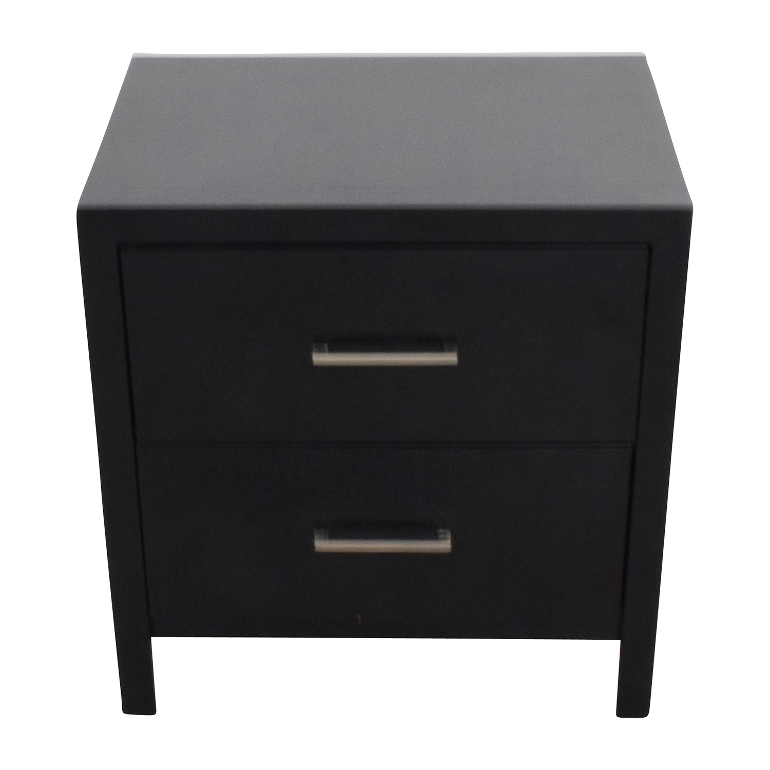 buy Black Two-Drawer Nightstand Overstock Tables