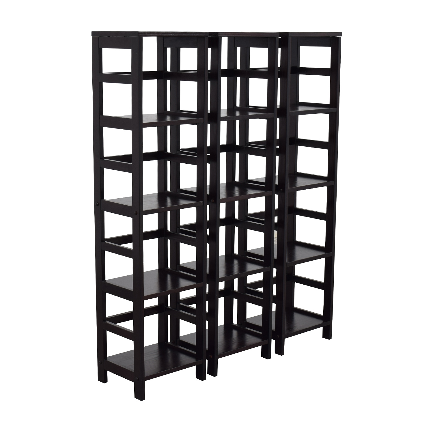 Winsome Woods Four-shelf Bookcase Winsome Woods