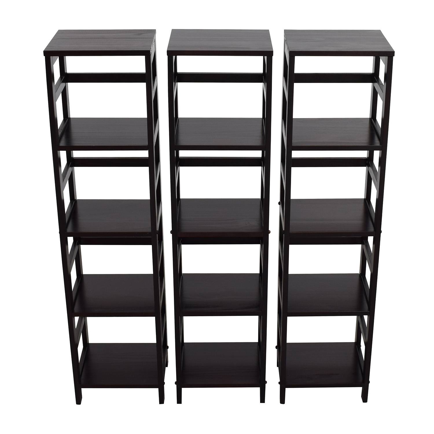 shop Winsome Woods Four-shelf Bookcase Winsome Woods Storage