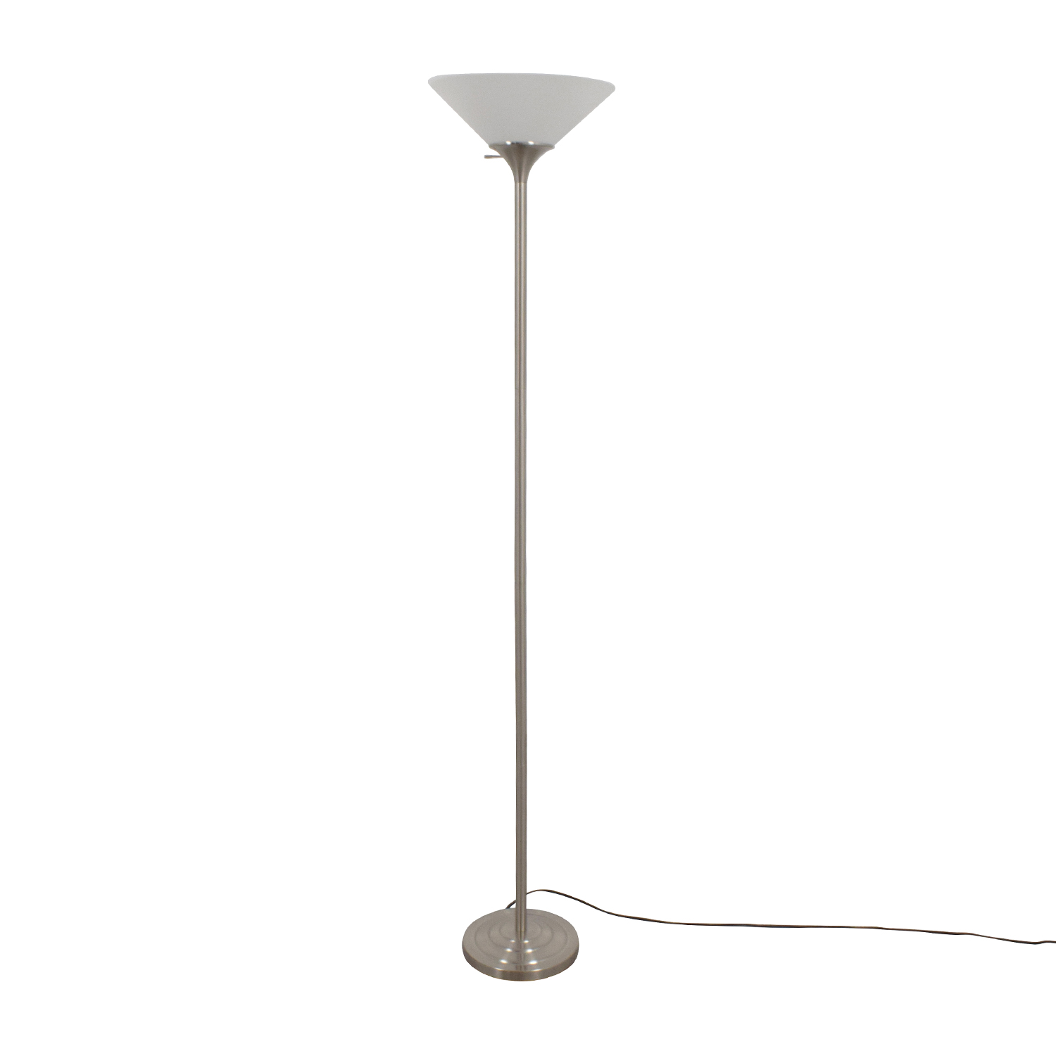 with in shop shade lamps woodbine way glass floor nickel lamp pd brushed torchiere
