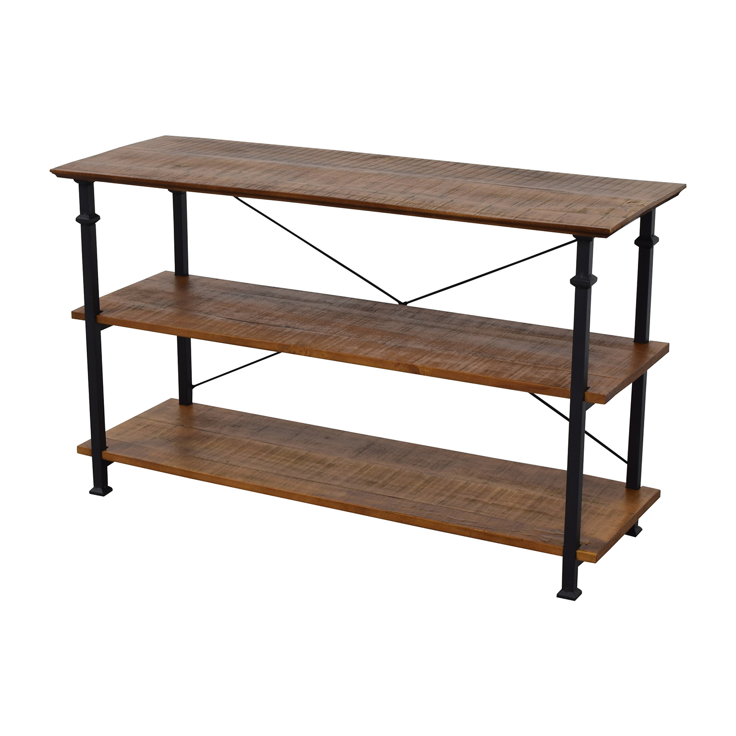 47 Off Wayfair Wayfair Rustic Wood And Metal Bookcase