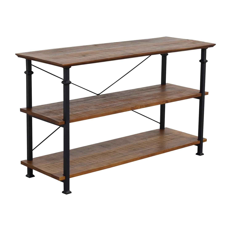 buy Wayfair Wayfair Rustic Wood and Metal Bookcase or TV Stand online