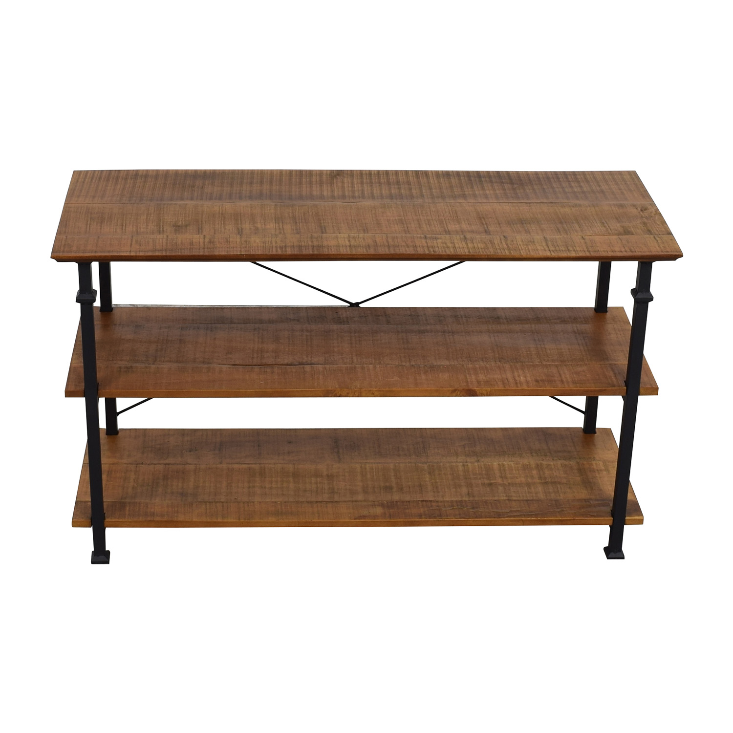 Wayfair Rustic Wood and Metal Bookcase or TV Stand / Media Units