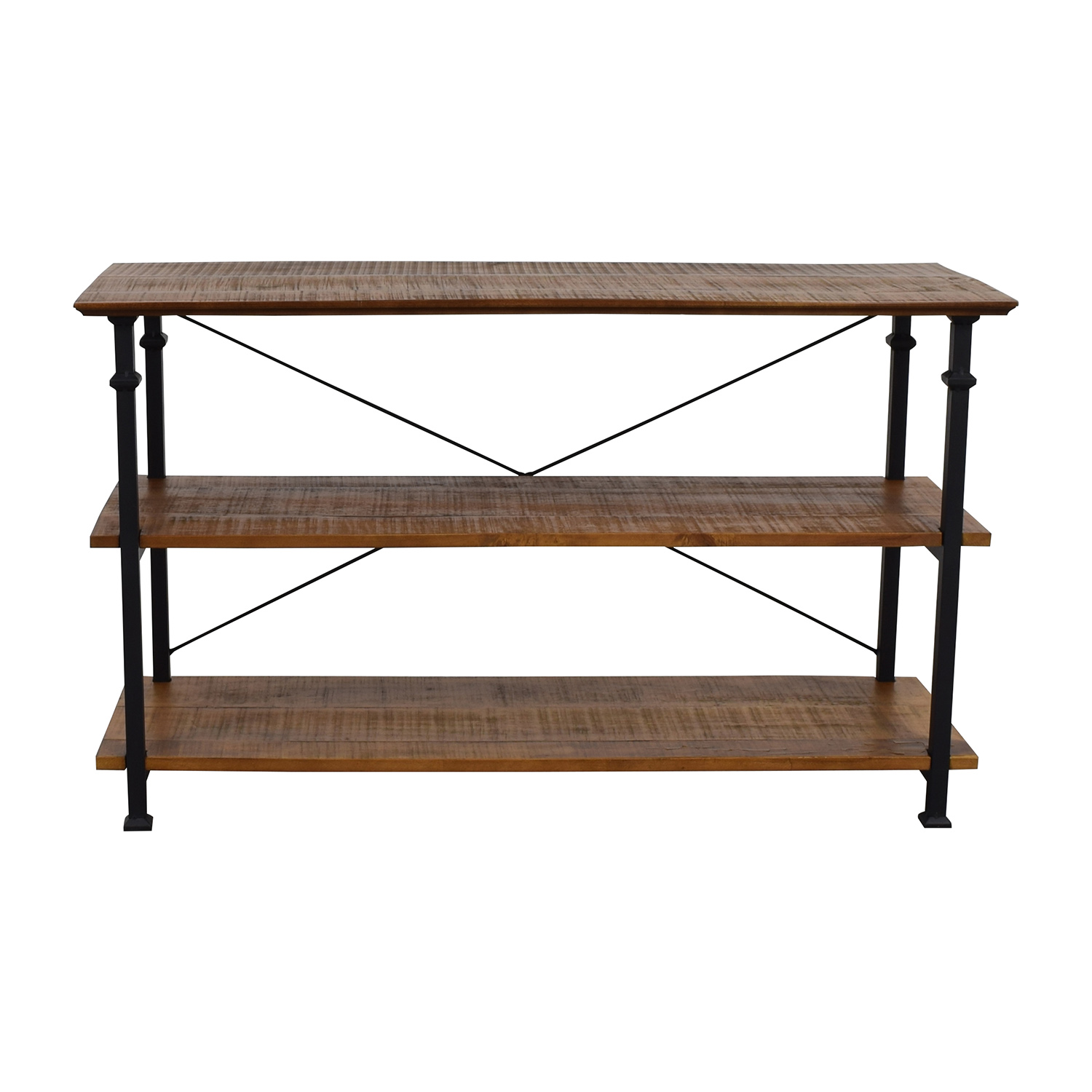Wayfair Wayfair Rustic Wood and Metal Bookcase or TV Stand nyc