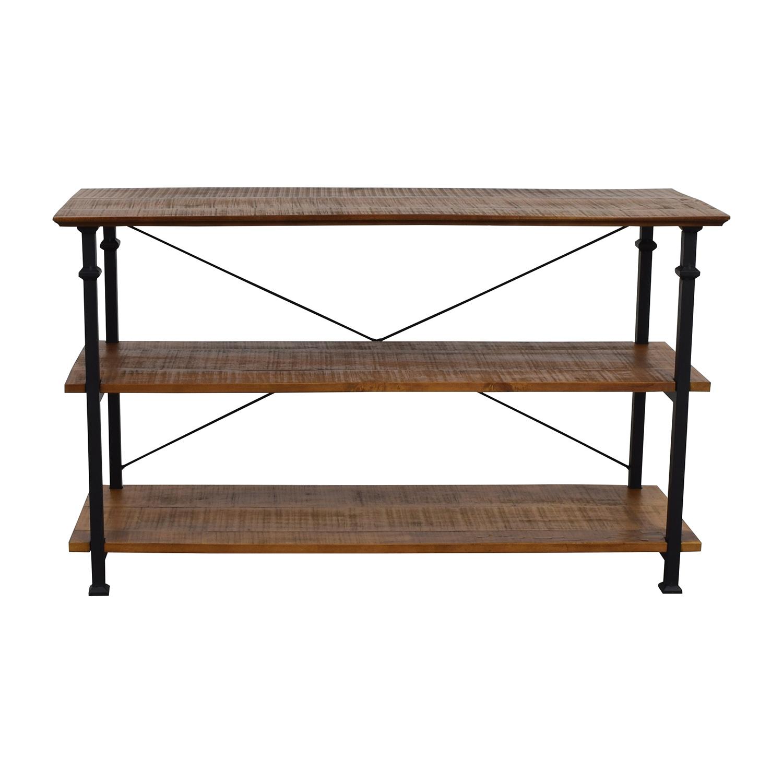 Wayfair Wayfair Rustic Wood and Metal Bookcase or TV Stand discount