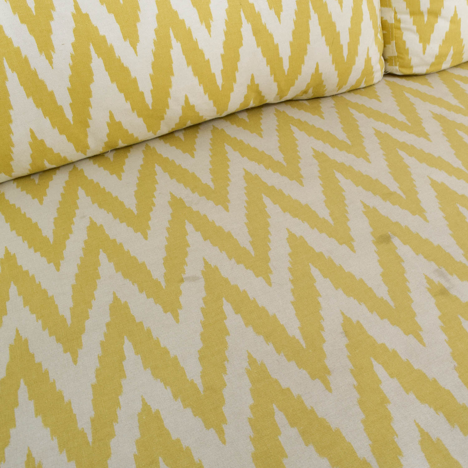 buy West Elm West Elm Yellow and White Single Cushion Sofa online