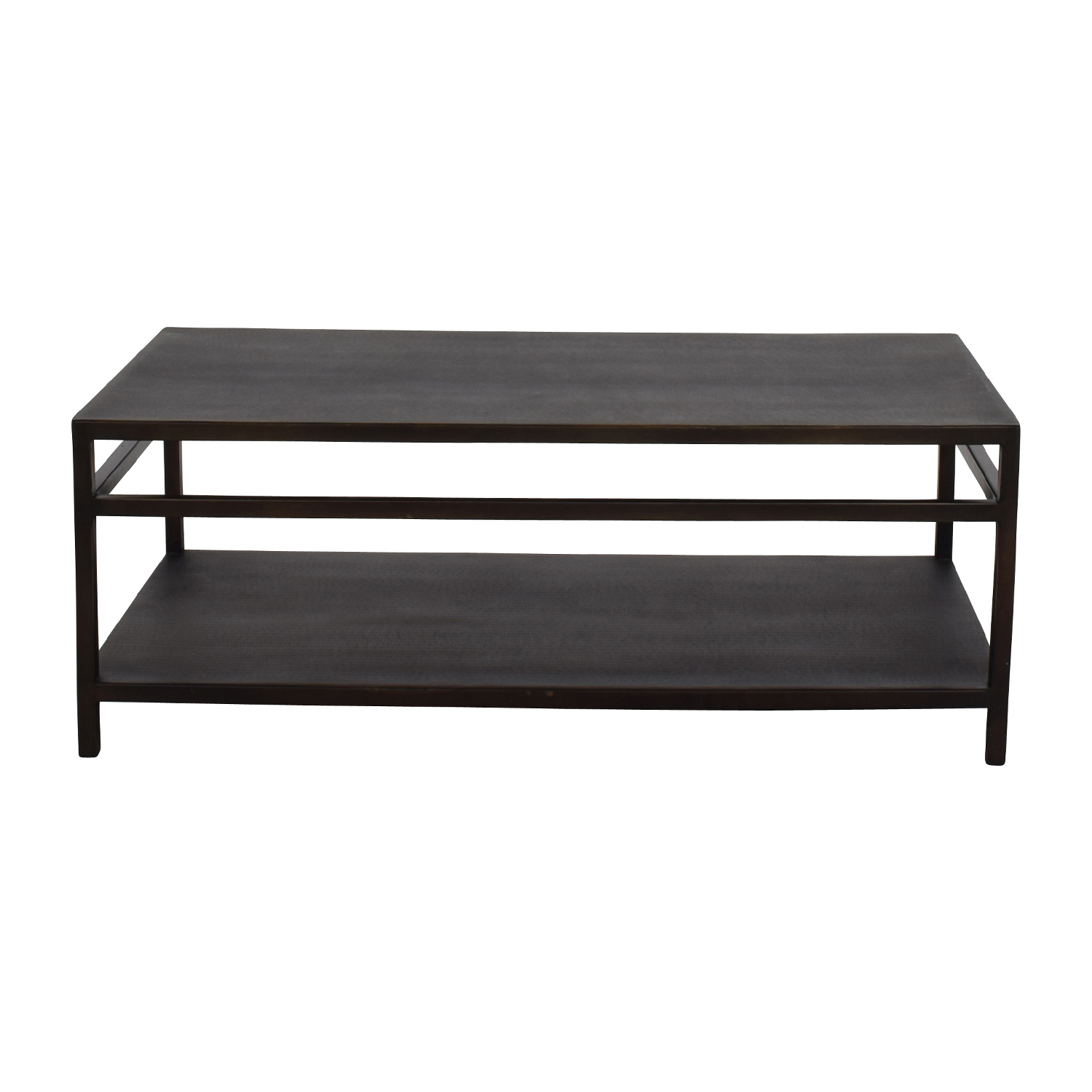 89% OFF Bloomingdales Black Modern Metal Coffee Table Tables