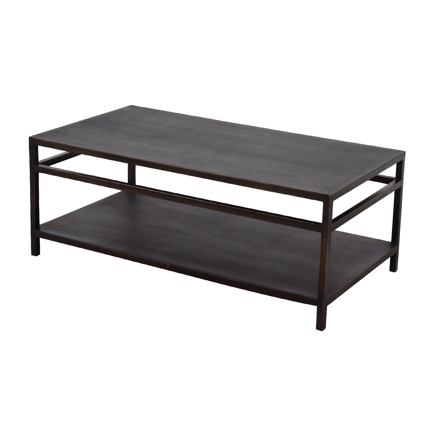 90 off bloomingdales black modern metal coffee table tables. Black Bedroom Furniture Sets. Home Design Ideas