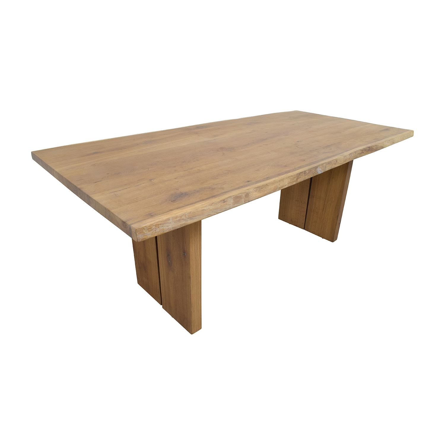 54 Off Modern Wood Plank Dining Table Tables