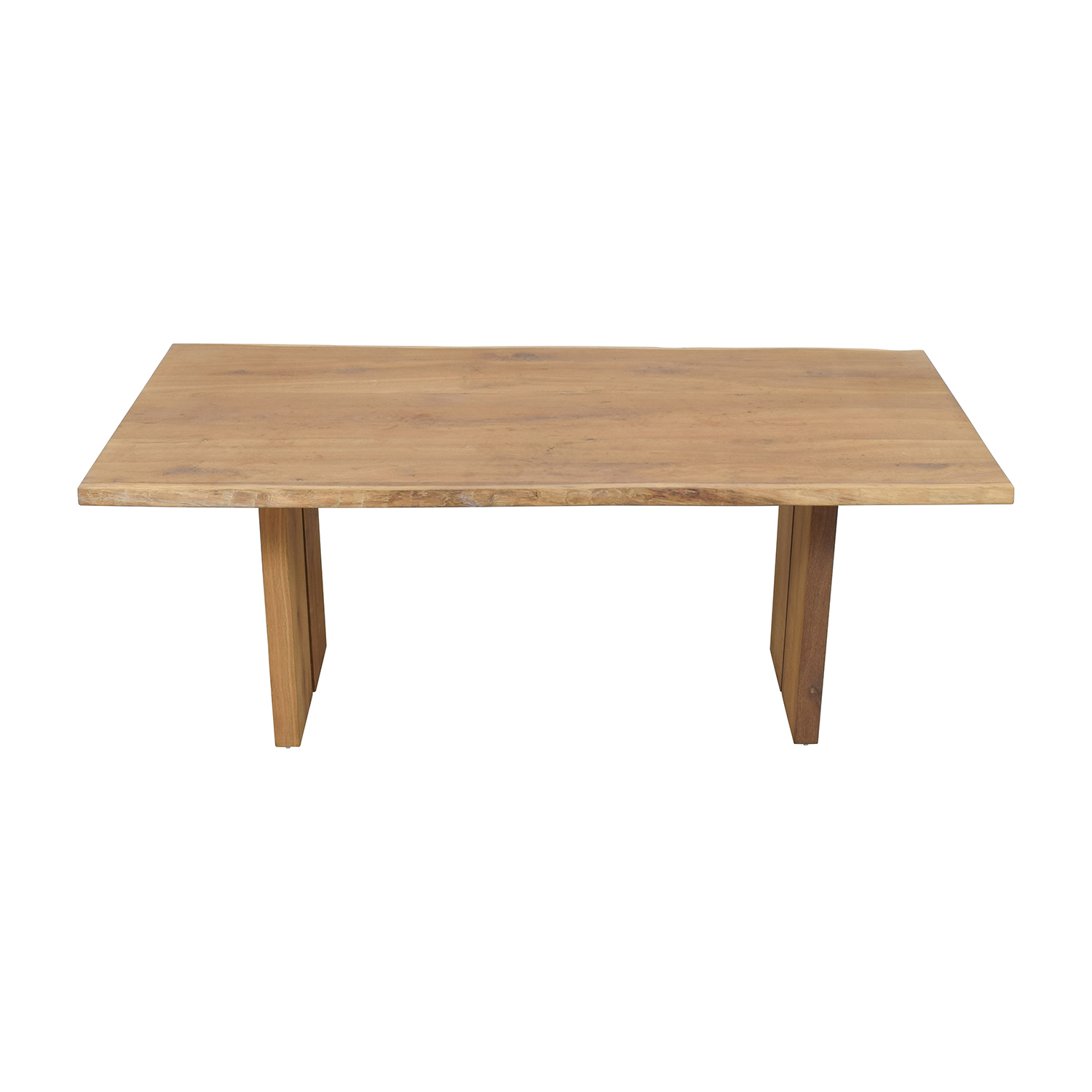 Modern Wood Plank Dining Table sale