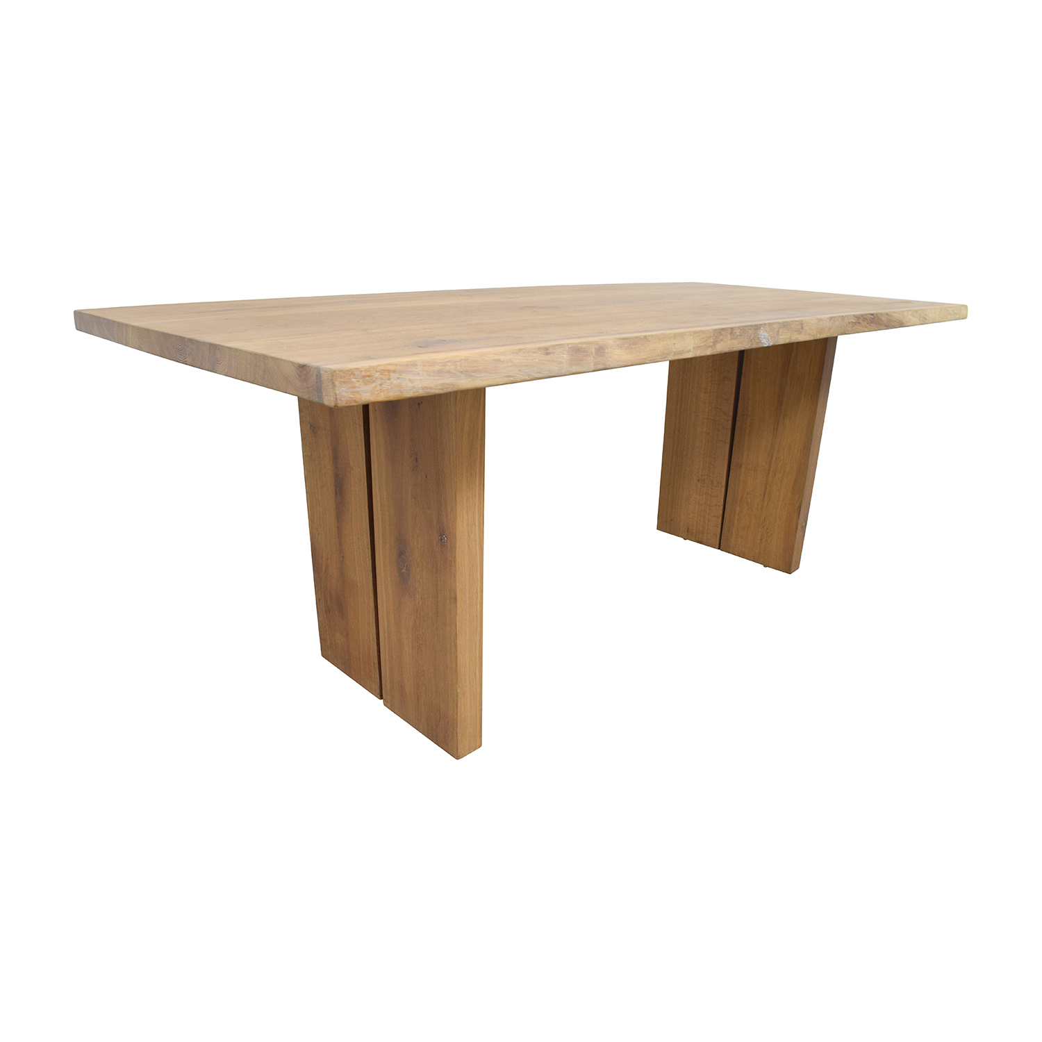 54 off modern wood plank dining table tables for Wood modern dining table