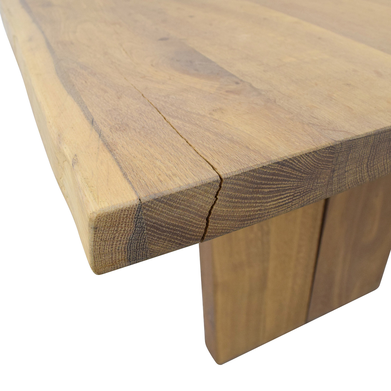 Modern Wood Plank Dining Table for sale
