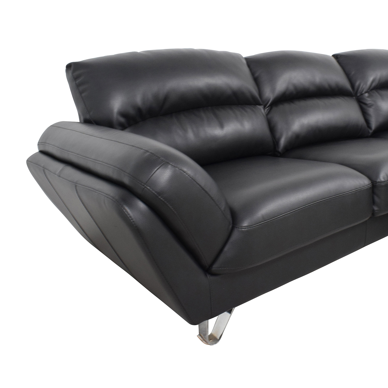 Contemporary Faux Leather Two-piece Sectional Sofa discount