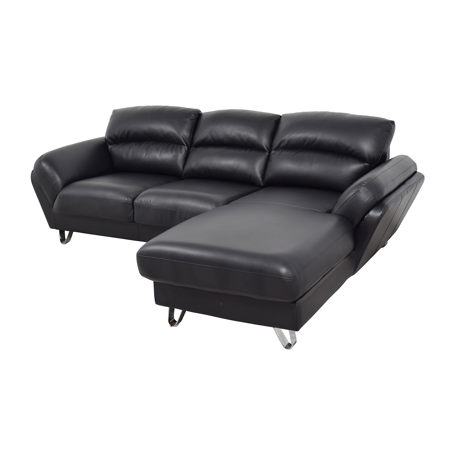 Contemporary Faux Leather Two-piece Sectional Sofa on sale