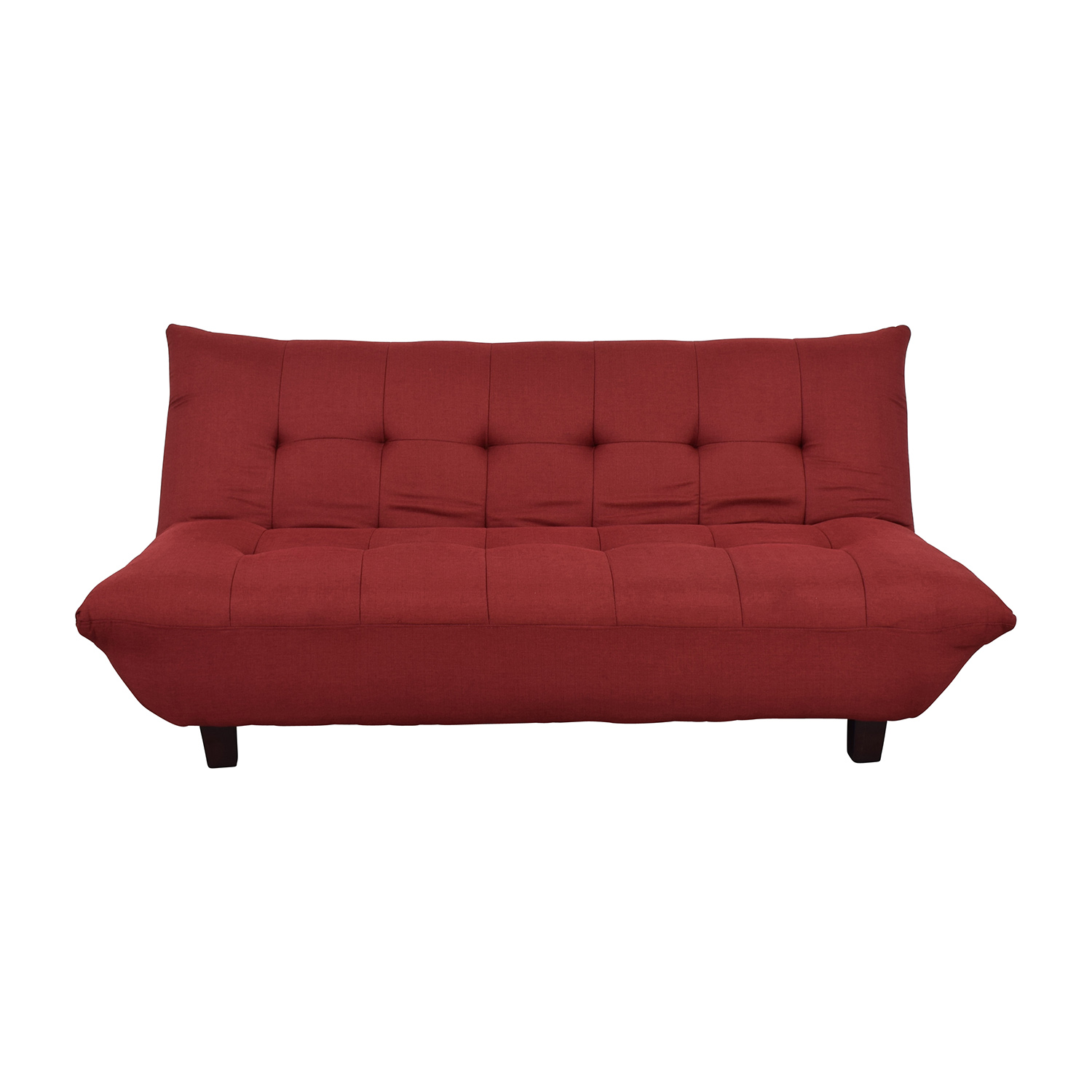 Shop Red Tufted Futon Sofa Bed Sofas