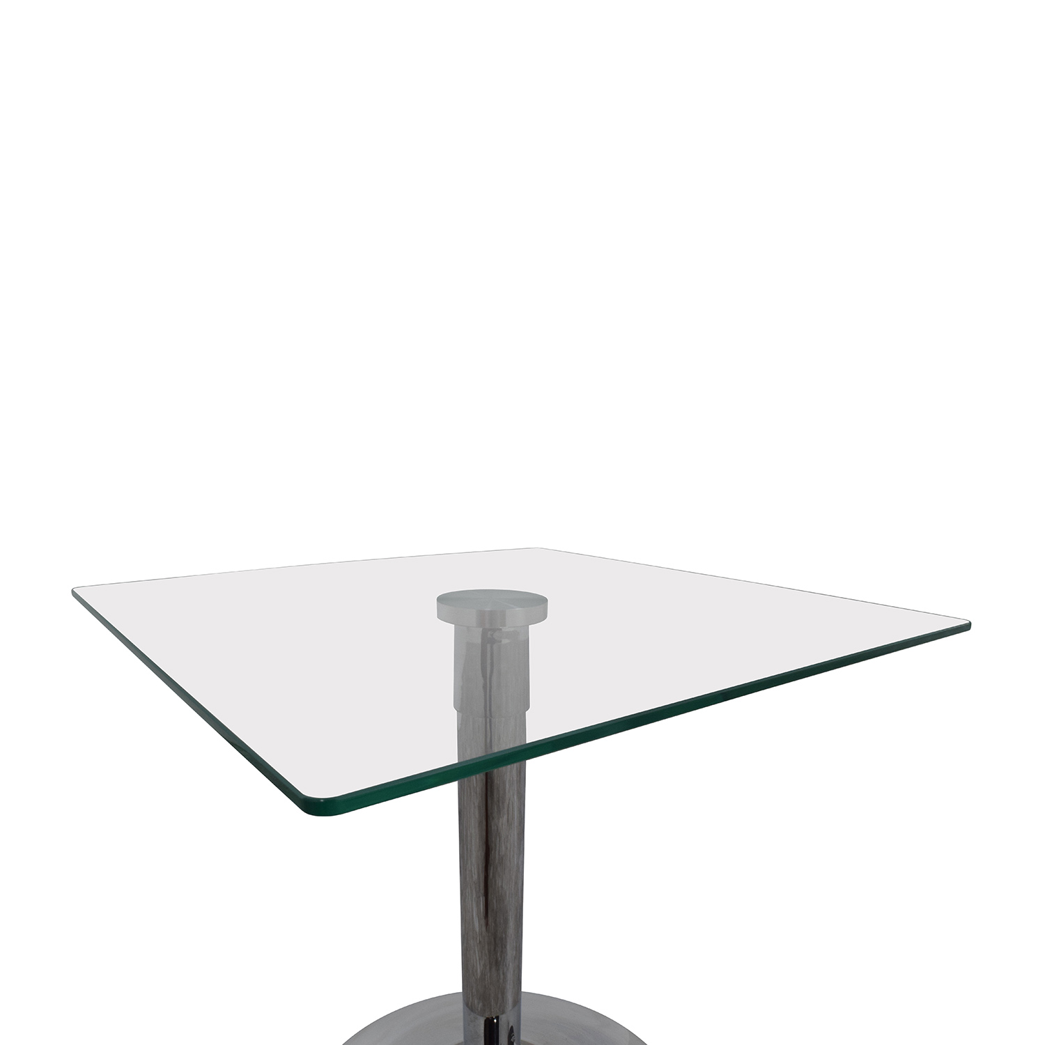 shop InMod Butler Glass Top End Table InMod