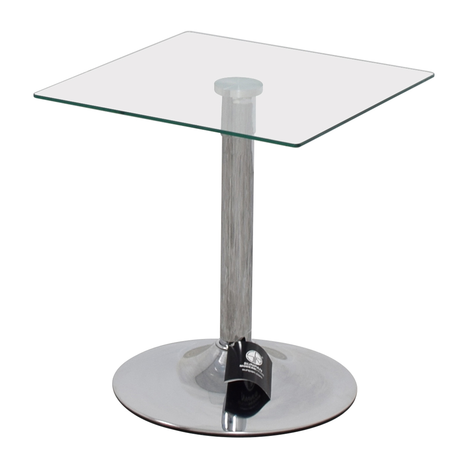 80 Off Inmod Inmod Butler Glass Top End Table Tables